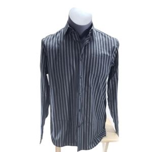 [Claiborne] Easy Care Striped Button Down Shirt